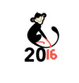 happy new year 2016 monkeys vector image