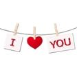 heart clothespins vector image