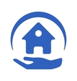 Home insurance logo vector image