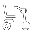 Isolated wheelchair for disabled people design vector image vector image