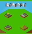 isometric way set of footpassenger navigation vector image