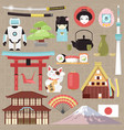 japan japanese culture and architecture or vector image vector image