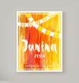 junina festa flyer vector image