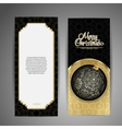 luxury card with christmas ball vector image vector image