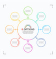 minimal style circle infographic template with 8 vector image vector image