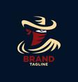 modern bandit logo vector image