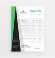 modern professional business invoice template vector image vector image