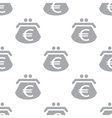 New Euro purse seamless pattern vector image vector image