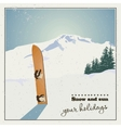 old snowboard in snow vector image vector image