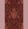 oriental burgundy pattern vector image