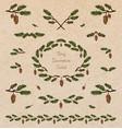 pine tree decorative elements vector image vector image