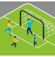 Playing Football vector image vector image