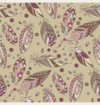 seamless native pattern with feathers and beads vector image vector image