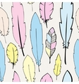 Seamless pastel bohemian feathers vector image