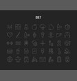 set flat line icons slimming vector image vector image