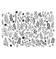 Set of sketches and line doodles hand drawn vector image vector image