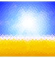 Shiny sun background made of arrow pattern vector image vector image