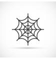 Spider web icon vector image vector image