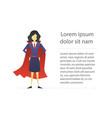 super woman flat character design vector image