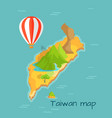 taiwan map with keelung and dragon mountain vector image vector image