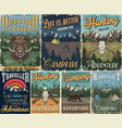 vintage outdoor recreation posters vector image