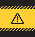 warning caution attention triangle sign on yellow vector image vector image