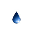 Water drop icon fresh aqua logo isolated mockup vector image vector image