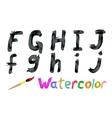 Watercolor font vector image vector image
