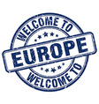 welcome to europe vector image vector image