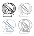 wheel for rodentspet shop single icon in cartoon vector image