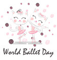 world ballet day october young girl performing vector image vector image