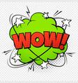 wow comic word cartoon pop vintage speech bubble vector image vector image