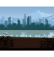 Background of oil and gas refinery vector image