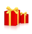 Gift Red Boxes vector image