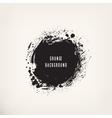 Grunge black ink circle vector image