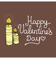 Inspirational romantic and love card for Happy vector image