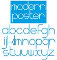 Modern font for poster brochure booklet flyer vector image