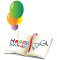 A birthday greeting with balloons vector image