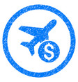 airplane price rounded grainy icon vector image vector image