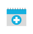 appointment icon such as medical day calendar vector image