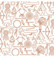 background with native american indians icons vector image vector image