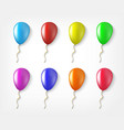 balloons colorful collection isolated in a vector image