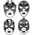 beautiful mask for mardi gras vector image vector image
