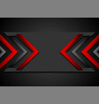 black and red abstract tech background with glossy vector image vector image