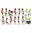 boy schoolboy kid poses set high school vector image vector image