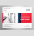 brochure presentation design template in red color vector image vector image