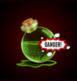 broken magic bottle vector image vector image