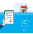 Building Soaking Under Flood Disaster vector image vector image