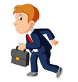 businessman with bag vector image vector image