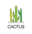 cactus creative logo design desert plant green vector image vector image